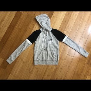 Hollister grey full zip sweatshirt